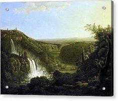 Het Dal Van De Anio Met De Watervallen Van Tivoli Acrylic Print by Apostool