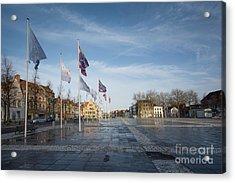 Het Zand, Bruges Acrylic Print by Nichola Denny