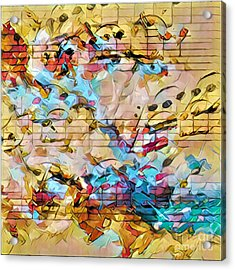 Heterophony Squared 3 Acrylic Print by Lon Chaffin
