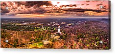 Heublein Tower, Simsbury Connecticut, Cloudy Sunset Acrylic Print