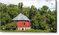 Acrylic Print featuring the photograph Hexagon Barn by Dan Traun