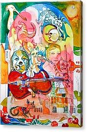 Hey Diddle Diddle Acrylic Print by Mike Shepley DA Edin