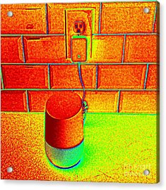 Heat Map Hey Google How Can You Help Me Acrylic Print by Richard W Linford