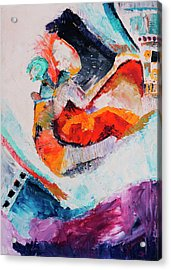 Acrylic Print featuring the painting Hey Mr. Spaceman by Stephen Anderson