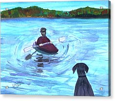 Acrylic Print featuring the painting Hey Where You Going  by Donna Walsh