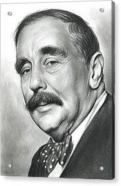 H.g. Wells Acrylic Print by Greg Joens