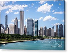 Hi-res Picture Of Chicago Skyline And Lake Michigan Acrylic Print by Paul Velgos