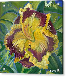 Acrylic Print featuring the painting Hibiscus 2 by John Keaton