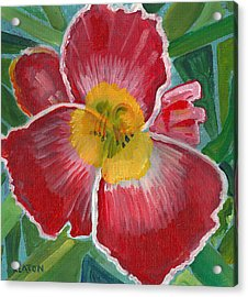 Acrylic Print featuring the painting Hibiscus 3 by John Keaton