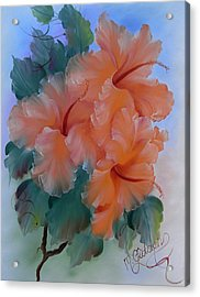 Hibiscus Delight Acrylic Print by Micheal Giddens