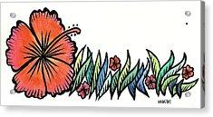 Hibiscus Guam 2009 Acrylic Print by Marconi Calindas