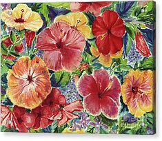 Hibiscus Impressions Acrylic Print by Patti Bruce - Printscapes