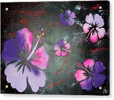 Hibiscus Acrylic Print by Trenton Heckman
