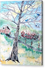 Acrylic Print featuring the painting Hickory by Denise Tomasura