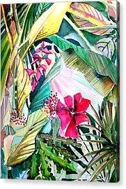 Hidden Beauty Acrylic Print by Mindy Newman
