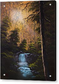 Hidden Brook Acrylic Print by C Steele