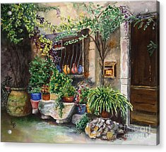 Hidden Courtyard Acrylic Print