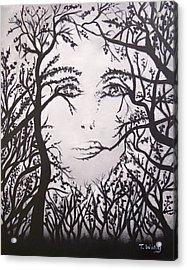 Hidden Face Acrylic Print