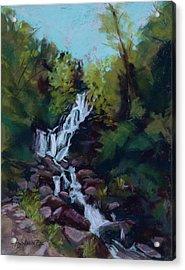 Hidden Falls Acrylic Print by Mary Benke