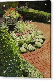 Hidden Garden In Quebec Acrylic Print by Walt Maes