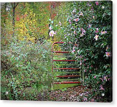Hidden Gate Acrylic Print by Bellesouth Studio