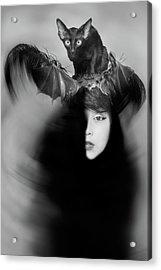Hidden Half Acrylic Print by Mayumi Yoshimaru