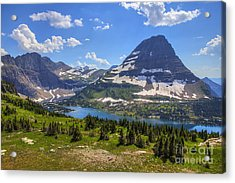 Hidden Lake And Bearhat Mountain Acrylic Print