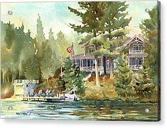 Hidden Lake Acrylic Print by Kris Parins