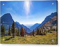 Acrylic Print featuring the photograph Hidden Lake Valley Glacier National Park by Lon Dittrick