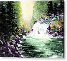 Hidden Paridise Acrylic Print by Just Joszie