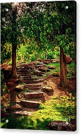 Hidden Path At Honor Heights Park Acrylic Print