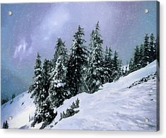 Hidden Peak Acrylic Print by Jim Hill