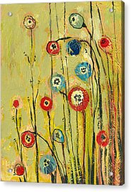 Hidden Poppies Acrylic Print