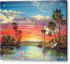 Hidden Refuge Sunset Acrylic Print by Riley Geddings
