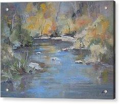 Hidden River Acrylic Print by Elaine Monnig