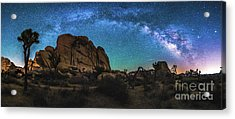 Hidden Valley Milky Way Panorama Acrylic Print