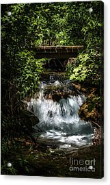 Hidden Waterfall At Chickasaw National Recreation Area Acrylic Print by Tamyra Ayles