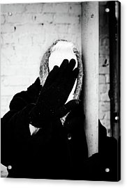 Acrylic Print featuring the photograph Hidden Woman In Black Fur by John Williams