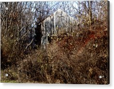 Hide A Barn Acrylic Print by Ross Powell