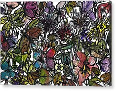Hide And Seek In Wildflower Bushes Acrylic Print by Garima Srivastava
