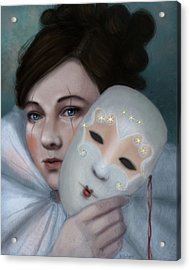 Hiding Behind Masks Acrylic Print