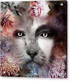 Hiding Catlady Acrylic Print