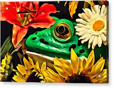 Hiding Frog Acrylic Print by Jeff  Gettis
