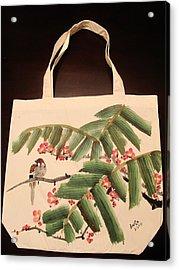 Hiding Under The Palm Tree Acrylic Print by Anita Lau