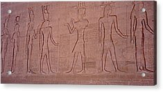 Hieroglyphics And Carvings On The Wall Of Temple Of Edfu Acrylic Print