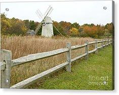 Higgins Farm Windmill Brewster Cape Cod Acrylic Print by Matt Suess