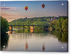 Acrylic Print featuring the photograph High Above The Androscoggin by Rick Berk