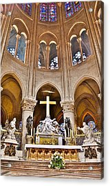 High Alter Notre Dame Cathedral Paris France Acrylic Print