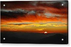Acrylic Print featuring the photograph High Altitude Fiery Sunset by Joe Bonita