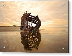 High And Dry, The Peter Iredale Acrylic Print